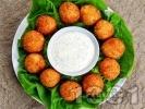 Снимка на рецепта Панирани топчета от сирене и кашкавал